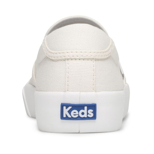 CREW KICK 75 SLIP ON CANVAS WHITE