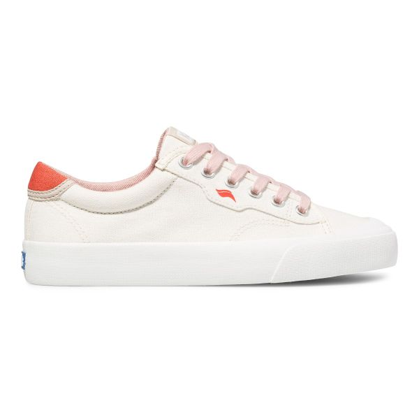 CREW KICK 75 CANVAS SNOW WHITE RED