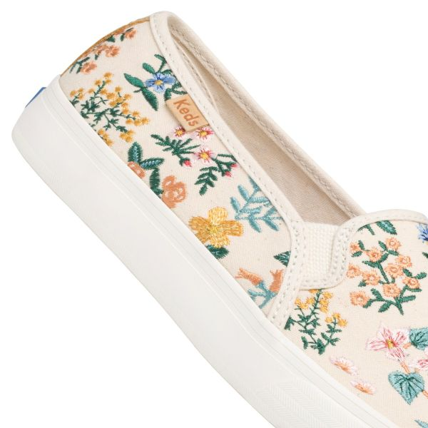 DOUBLE DECKER RPC WILDFLOWER EMBROIDERED NATURAL