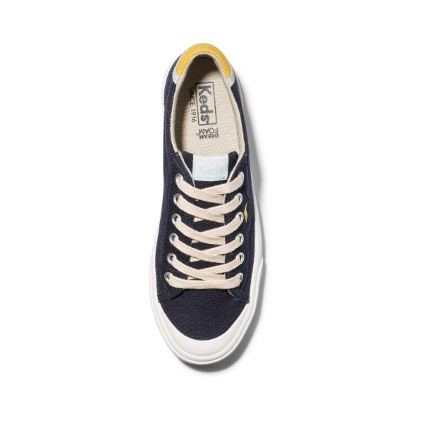 CREW KICK 75 CANVAS NAVY LEMON CURRY