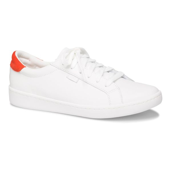 ACE LEATHER WHITE RED