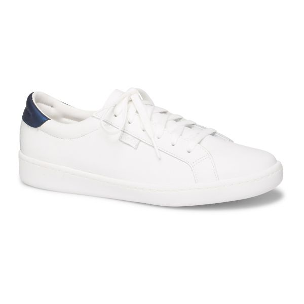 ACE LEATHER WHITE NAVY