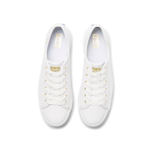 Triple Kick Amp Leather White