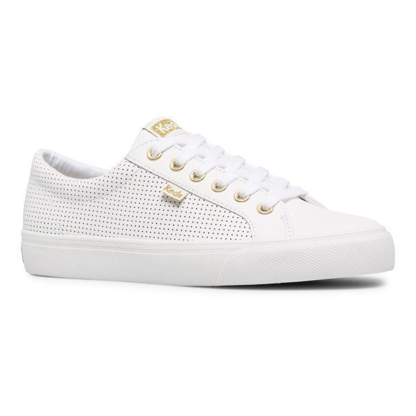 Jump Kick Leather White/Gold
