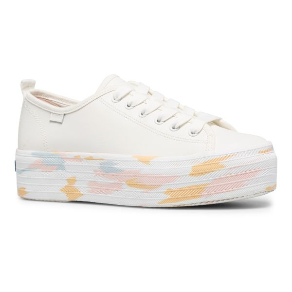 Triple Up Leather Marble Snow White